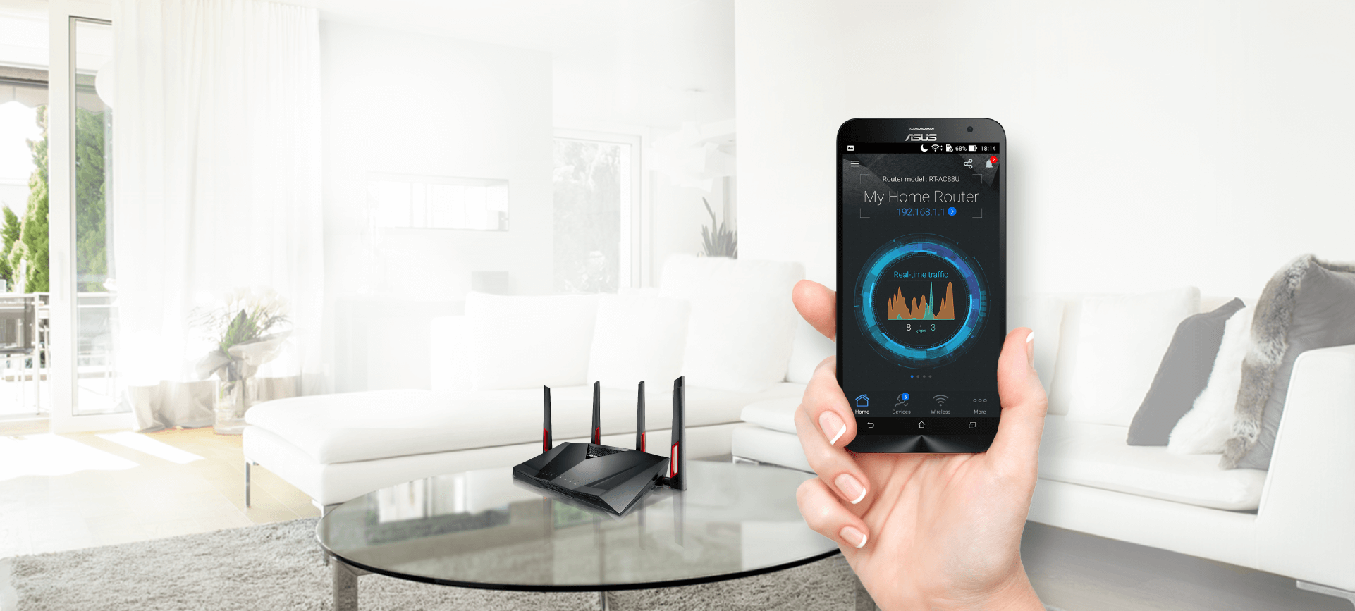 ASUS Router App helps you to control your home network