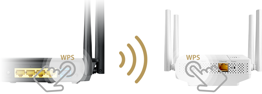 ASUS RP-AC87 repeater allows users to setup automatically by simply pressing WPS buttons