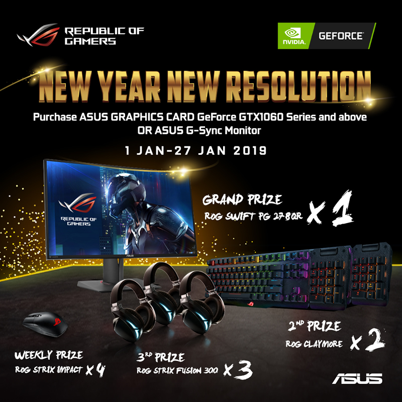 ASUS Republic of Gamers Announces New Year New Resolution
