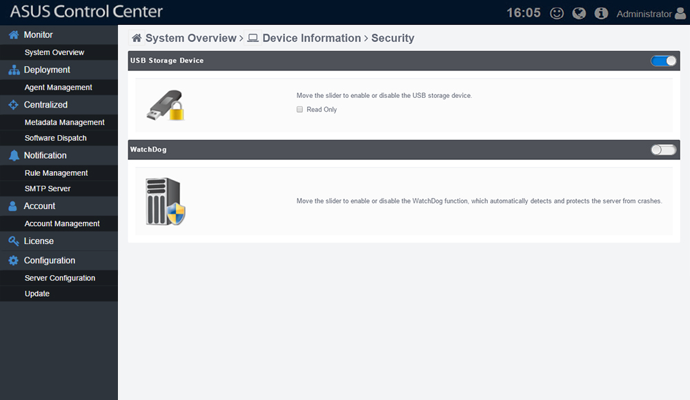 ASUS Control Security
