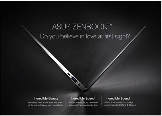 ultrabook UX21, UX31 yêu từ cái nhìn đầu tiên