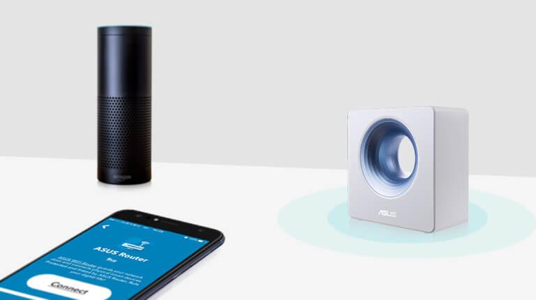 Anumite routere ASUS sunt compatibile cu Amazon Echo, Amazon Alexa și IFTTT, facilitând automatizarea întregii locuințe și permițând controlul vocal al dispozitivelor IoT.
