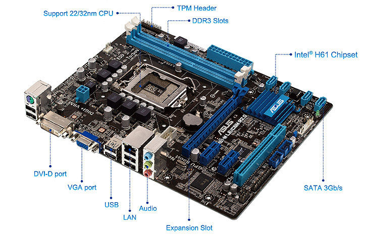 P8H61-M LE/CSM R2 0 | Motherboards | ASUS USA