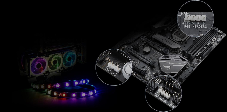 RGB Headers focus