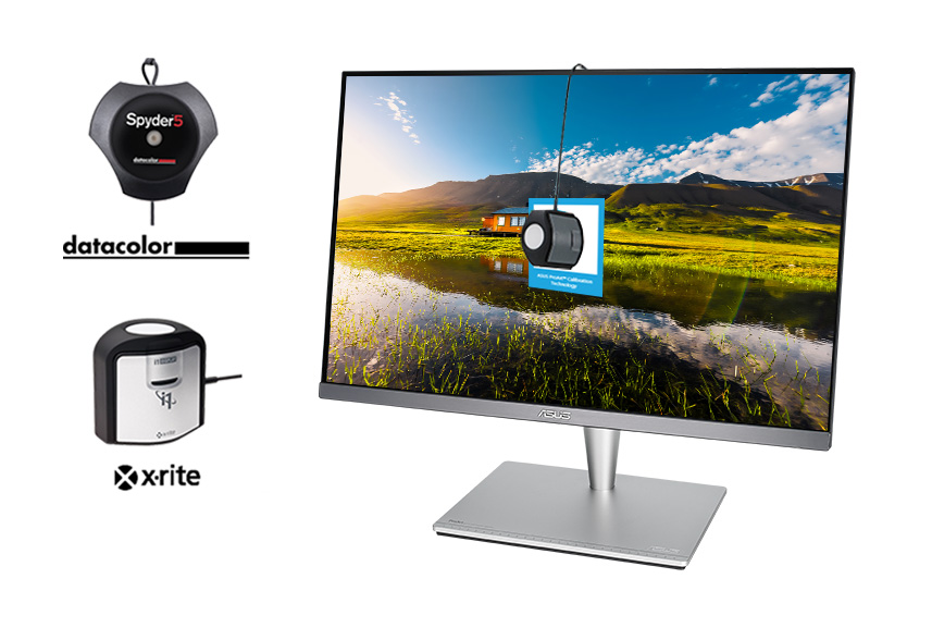 ASUS ProArt monitor is also compatible with the top major hardware calibrators