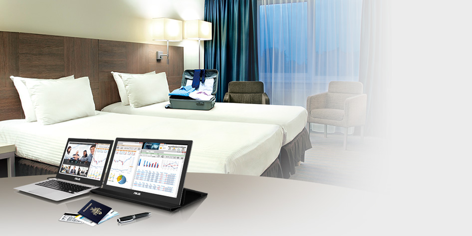 MB168B / MB168B+ draagbare USB-gevoede monitor
