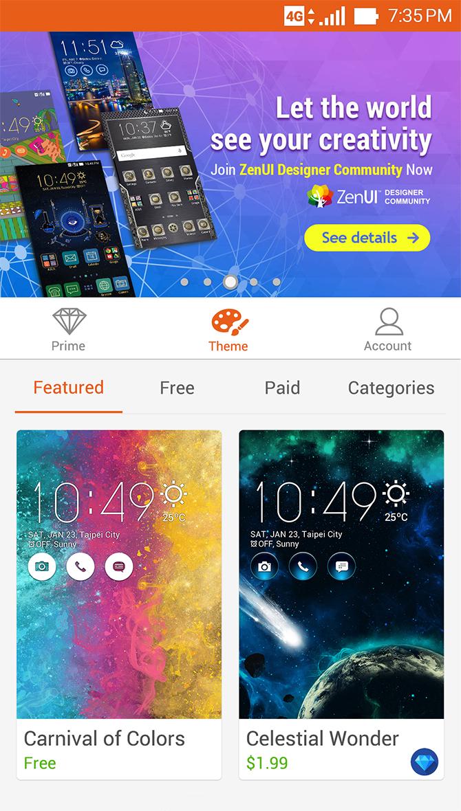 Zenfone 3 Laser Zc551kl Phone Asus Indonesia Garansi Resmi Themes