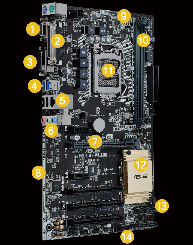 computer fan wire diagram h110 plus motherboards asus global  h110 plus motherboards asus global