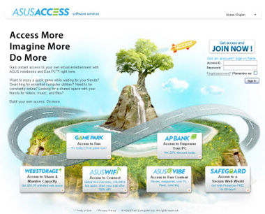 Asus Access - Access More, Imagine More, Do More with ASUS' Cloud Computing Service