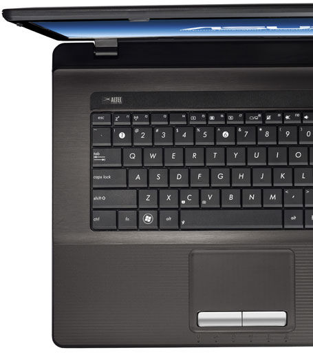 ASUS K seires with ergonomic chiclet keyboard and Palm Proof technology