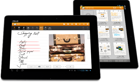 Read, type, and scribble anytime and anywhere with handwriting recognition.
