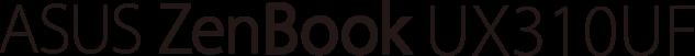 logo zenbook ux310uf