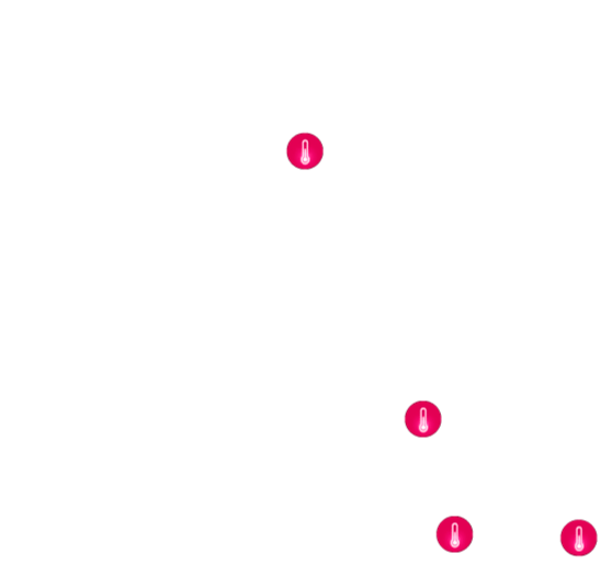 Multiple temperature sources position