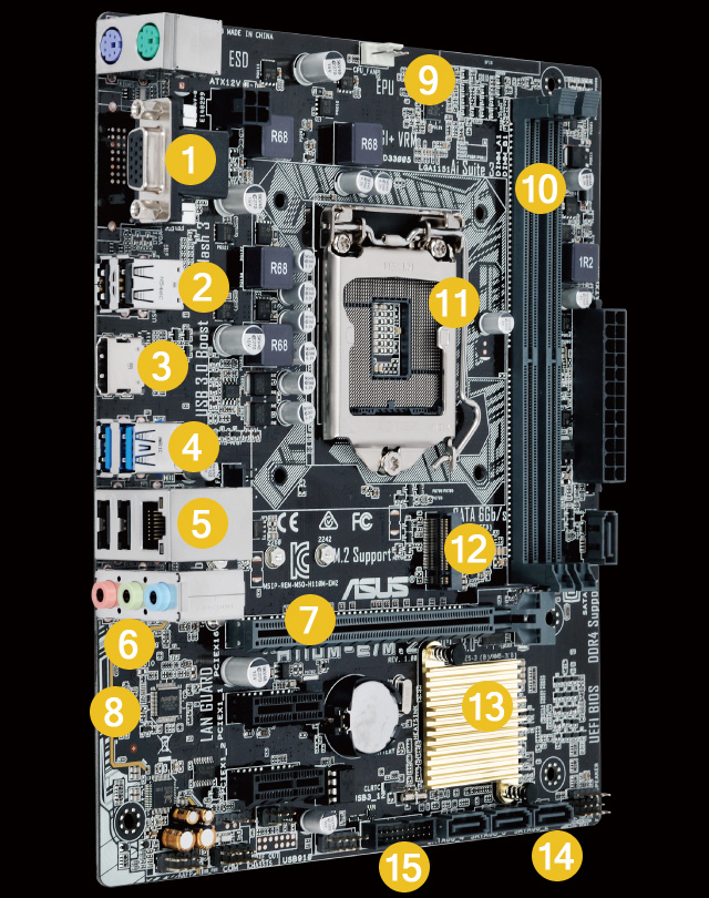 H110M-E/M 2 | Motherboards | ASUS Canada