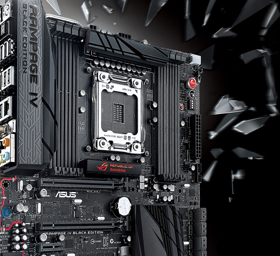 Asus rampage iv black edition lga 2011 intel x79 extended atx.