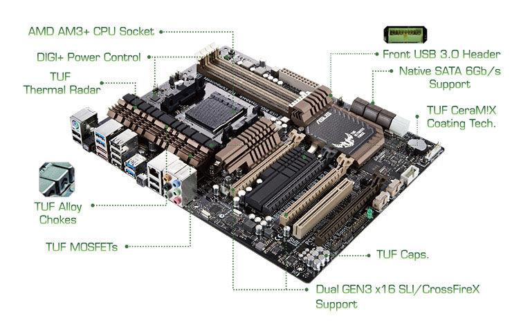 Asus Sabertooth 990fx  Gen3 R2 0 Motherboard  Amd Fx 8350 Cpu 8g Combo Set