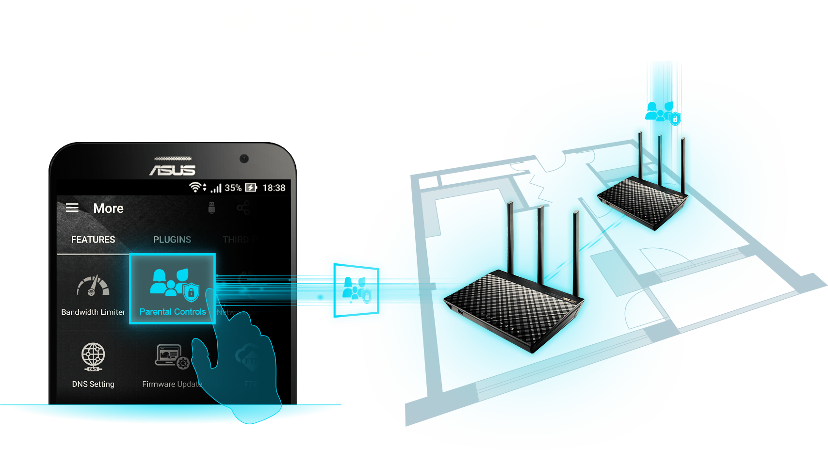 Les caractéristiques de chaque routeur sont compatibles avec votre système Wi-Fi AiMesh