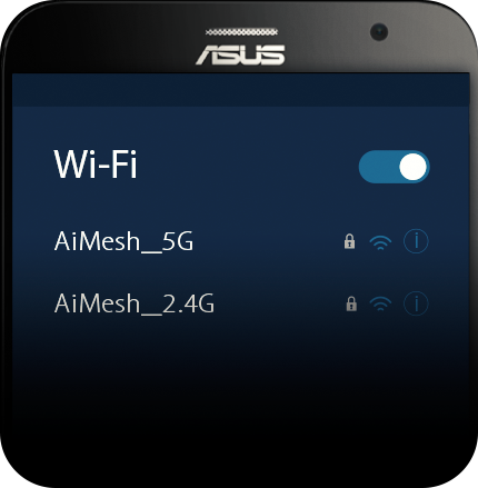 AiMesh AC1900 WiFi System allows you to choose single SSID for entire home or separate SSIDs for each frquency band.