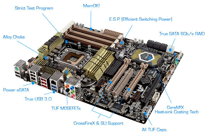 overview ASUS SABERTOOTH X58 Motherboard Review