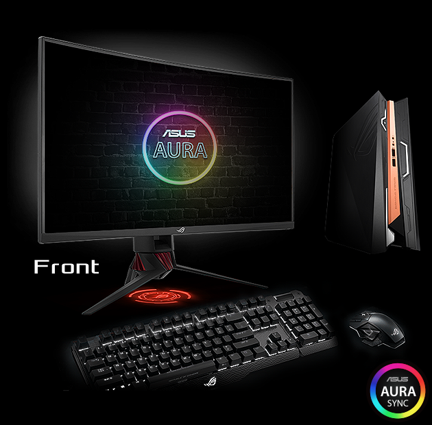 Image result for ROG Strix XG32VQ is a 32-inch QHD curved monitor with an astonishing 144Hz refresh rate and Adaptive-Sync (FreeSync™) for an extremely fluid gameplay without tearing and stuttering. It includes integrated ASUS Aura Sync lighting that allows for seamless synchronization with other Aura-enabled components and peripherals, adding personality to your gaming setup.