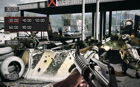 מקש הקיצור GamePlus, הבלעדי ל-ASUS, מספק שיפורים המשולבים במשחק, כגון תצוגה עליונה של כוונת, טיימר המוצג על גבי המסך ומונה פריימים לשנייה (FPS).