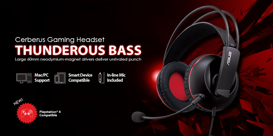 cerberus headphones headsets asus usa rh asus com Cerberus Greek Mythology The Three Headed Dog Cerberus