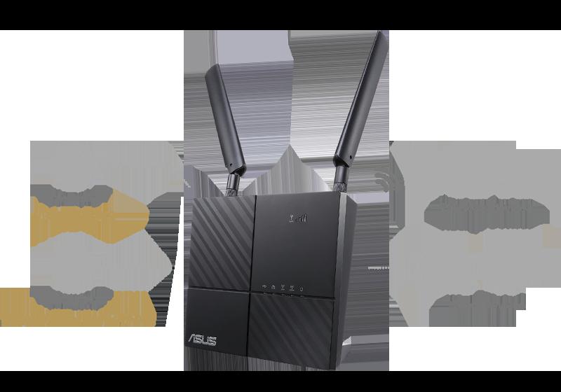 Le routeur ASUS 4G-AC53U est équipé d'un double WAN 4G LTE et Gigabit Ethernet utilisé comme connexion câblée de secours en cas de problème avec la connexion 4G LTE. Votre connexion internet est ininterrompue !