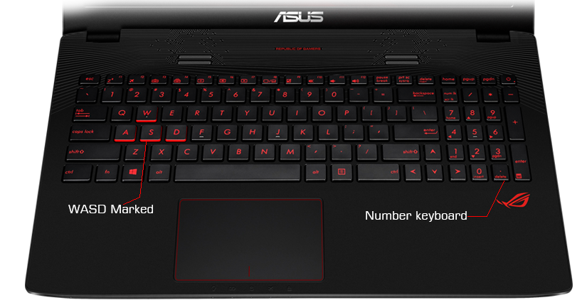 Ноутбук ASUS ROG GL753VD-GC144 90NB0DM2-M02110 (Intel Core i5-7300HQ 2.5 GHz/8192Mb/1000Gb/nVidia GeForce GTX 1050 4096Mb/Wi-Fi/Cam/17.3/1920x1080/Linux)