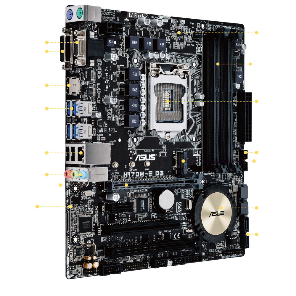 H170M-E D3 | Motherboards | ASUS USA