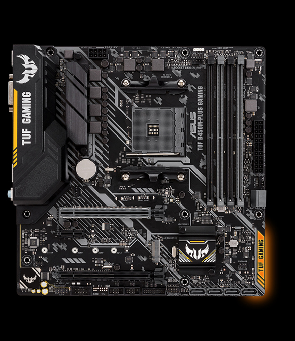 ASUS TUF B450-PLUS GAMING AM4 AMD B450 SATA 6Gb//s ATX AMD Motherboard