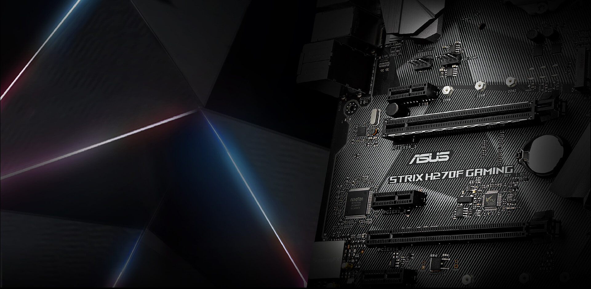 Rog Strix H270f Gaming Motherboards Asus Usa Correspondence Of The Pins On Hdmi To Dvid Cable Stylish Pcb Matte Black Color With Striking Patterned Design