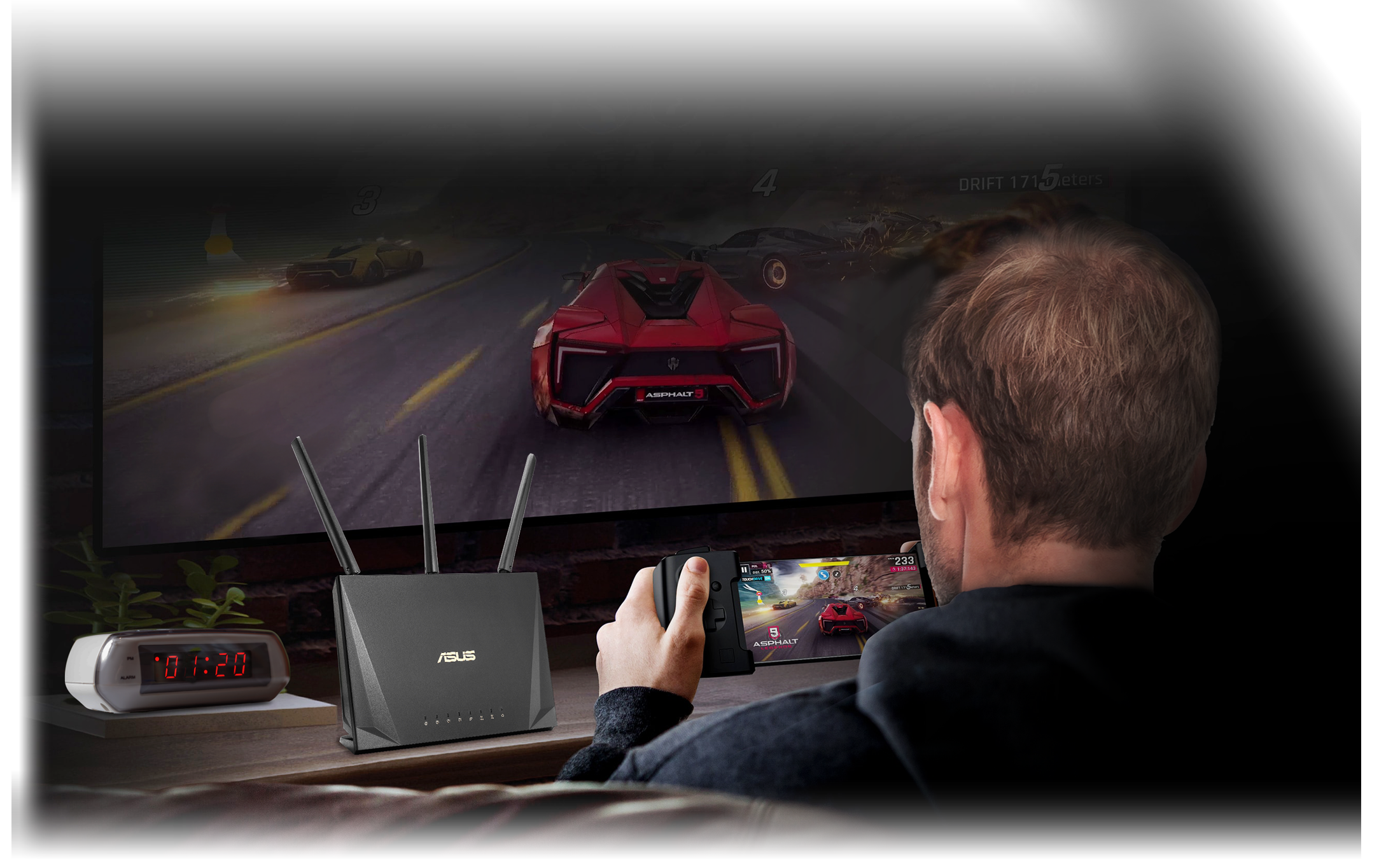 You can define your online gamging an HD streaming as highest priority to ensure the best internet connection with ASUS QoS