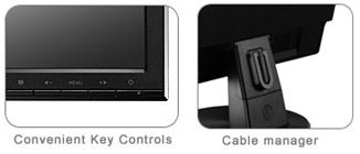 Convenient key controls & Cable manager