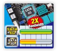 sata6G ASUS P7P55D E Premium : Review