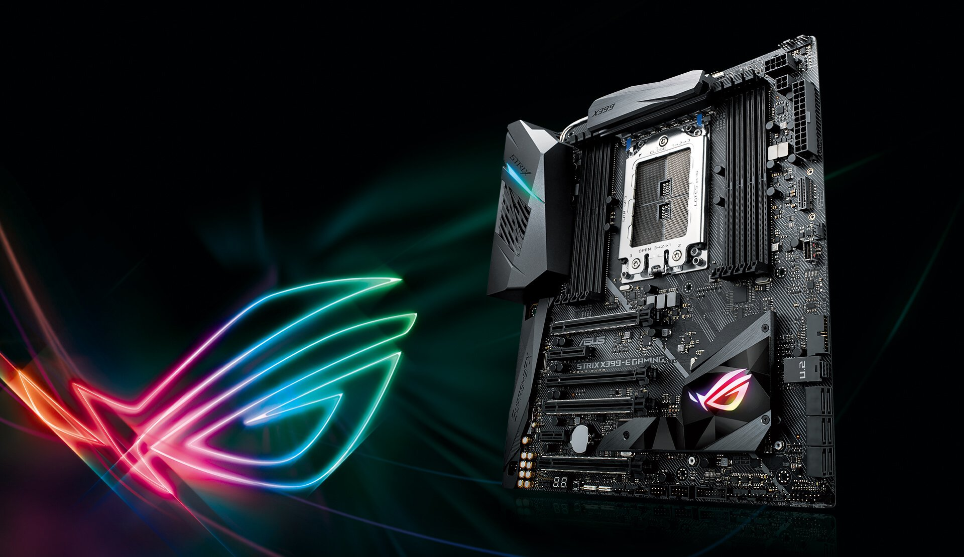 Rog Strix X399 E Gaming Motherboards Asus Usa Adding A Second Light To Existing 3way Circuitswitchswitchload2 Katana While Standard And Addressable Headers Take System Illumination The Next Level With Ryzen Threadripper Cpus Ready For Streaming