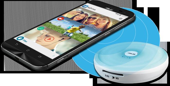 Travelair AC - WLAN Flash-Speicher-Laufwerk mit NFC-Unterstützung