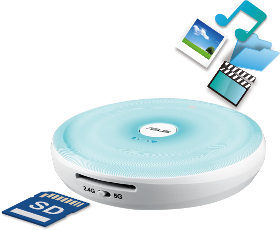 Travelair AC - WLAN Flash-Speicher-Laufwerk mit integriertem SD-Kartenleser