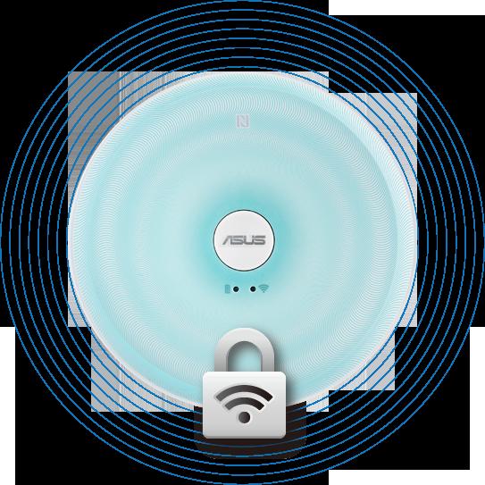 Travelair AC - WLAN Flash-Speicher-Laufwerk mit Schutz der Privatsphäre und Daten