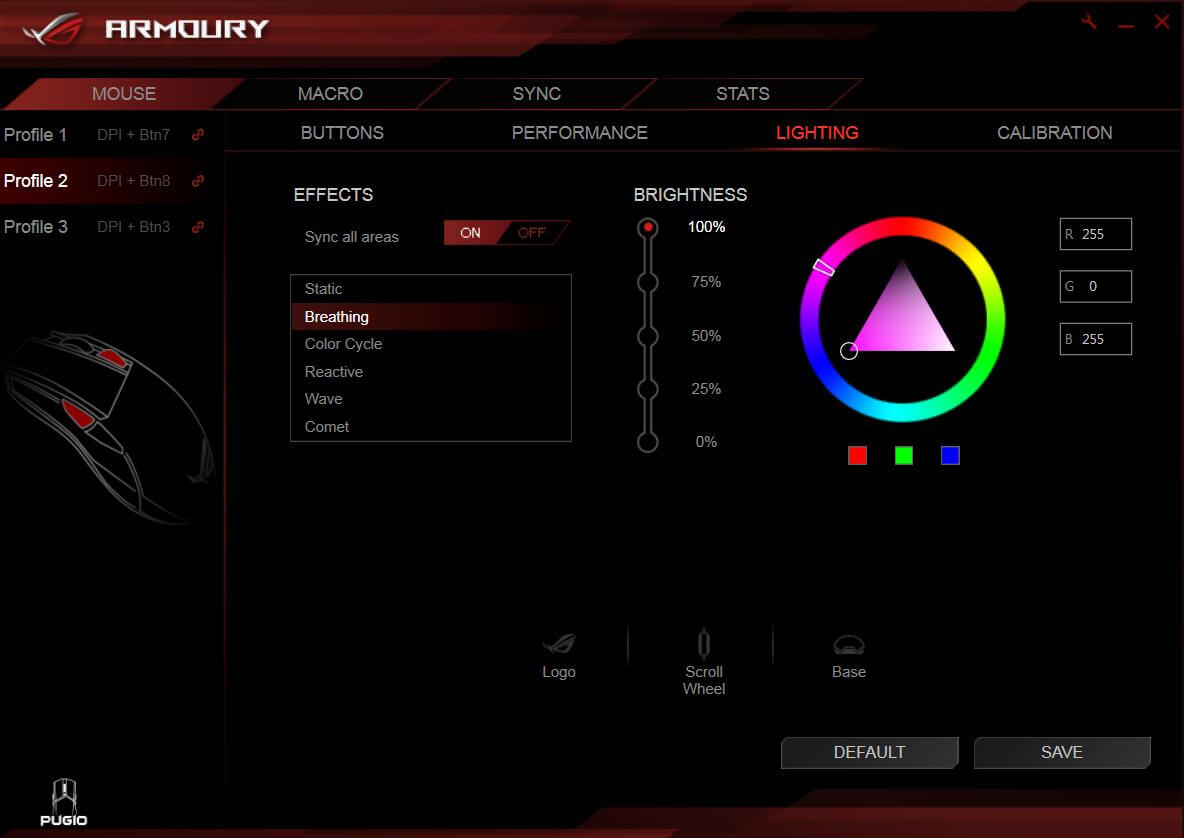 ROG Armoury Software AURA UI