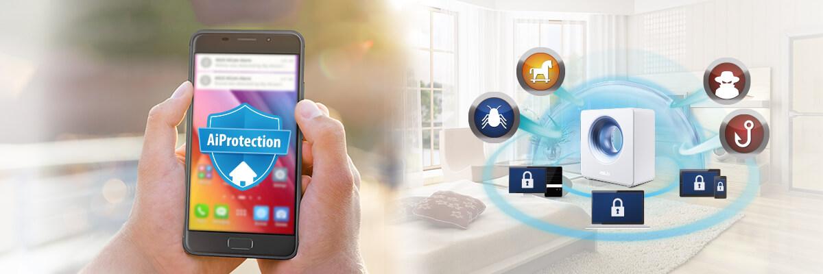 Le routeur Blue Cave offre une sécurité globale de votre réseau domestique en intégrant des logiciels antivirus pour vos ordinateurs et smartphones.