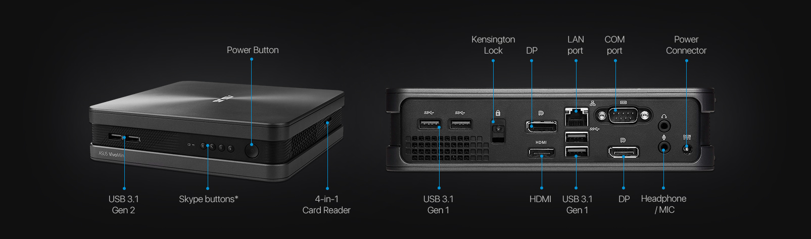 VivoMini VC68V-Mini PC- HDMI-4K- optimaler Mini-PC für TV