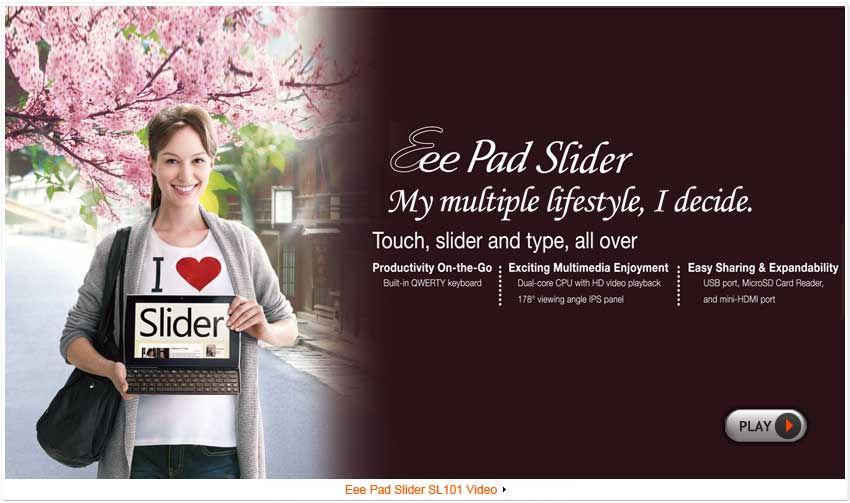 ASUS Eee Pad Slider