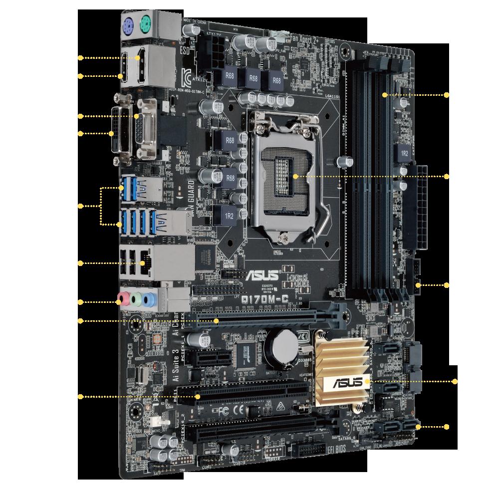 ASUS Q170M-C Intel LAN Treiber Herunterladen