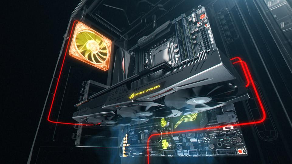 GDDR5 Asus GeForce ROG STRIX-GTX1070-O8G-Gaming Scheda Grafica da 8 GB