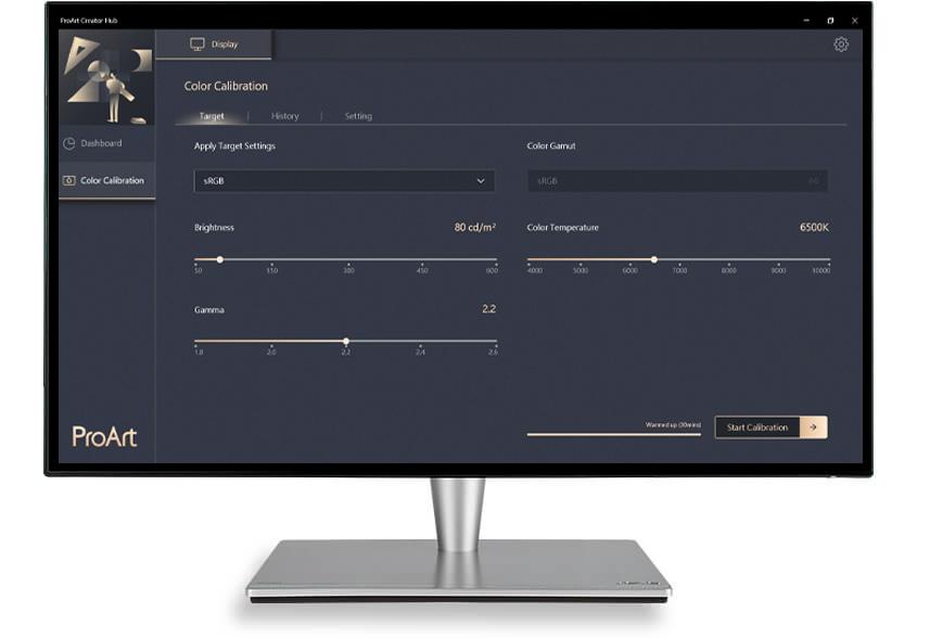 Die ASUS-ProArt-Kalibrierungstechnologie erzielt eine optimale Farbgenauigkeit bei der Arbeit mit verschiedensten Content-Typen und einer Vielzahl von anspruchsvollen Einstellungen.
