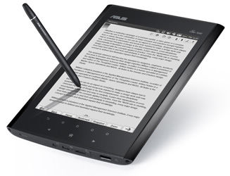 Up to 10,000 ebooks or 20,000 handwritten notes can be stored in the Eee Note's 4GB of internal memory