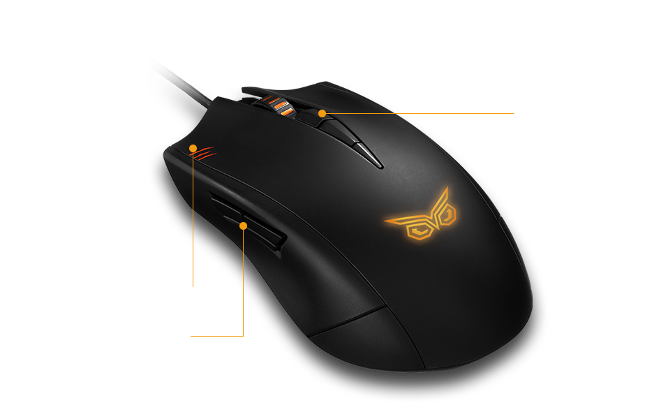 asus strix claw dark edition gaming mouse