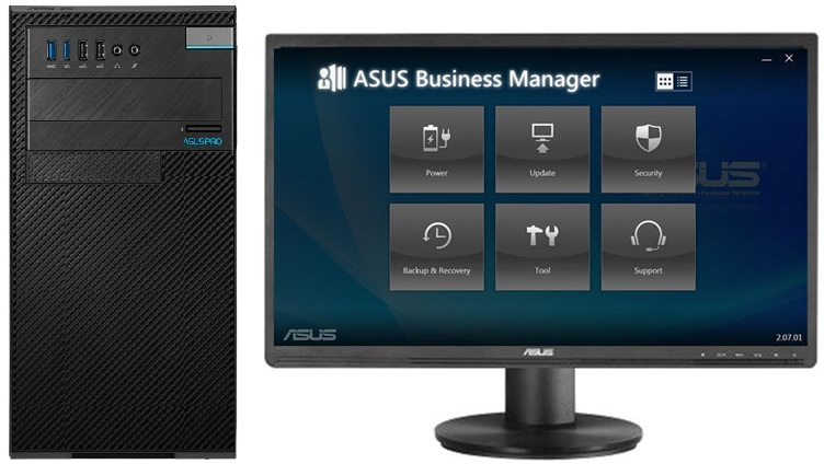 Image result for ASUSPRO Business Desktops d340mc front and baCK VIEW