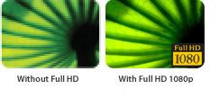 Beeindruckender Full HD 1080p-Bildschirm