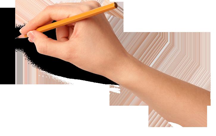 Resultado de imagen para mano escribiendo png
